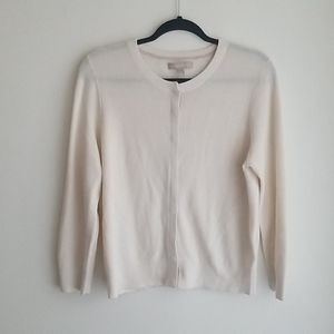 Banana Republic White Snap Cardigan Size XL
